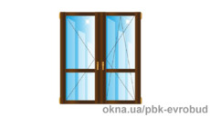 Дверь балконная двойная с полным остеклением