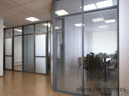 Система офісних алюмінієвих перегородок ALT110