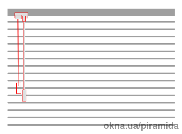 Жалюзи горизонтальные 25 мм белый (201) на струне