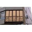 Французкий балкон с тонированным стеклом