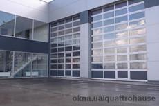 Панорамные автоматические ворота для автосалонов, СТО