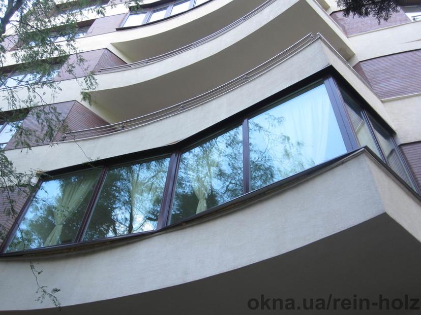 Балкон из евробрусса