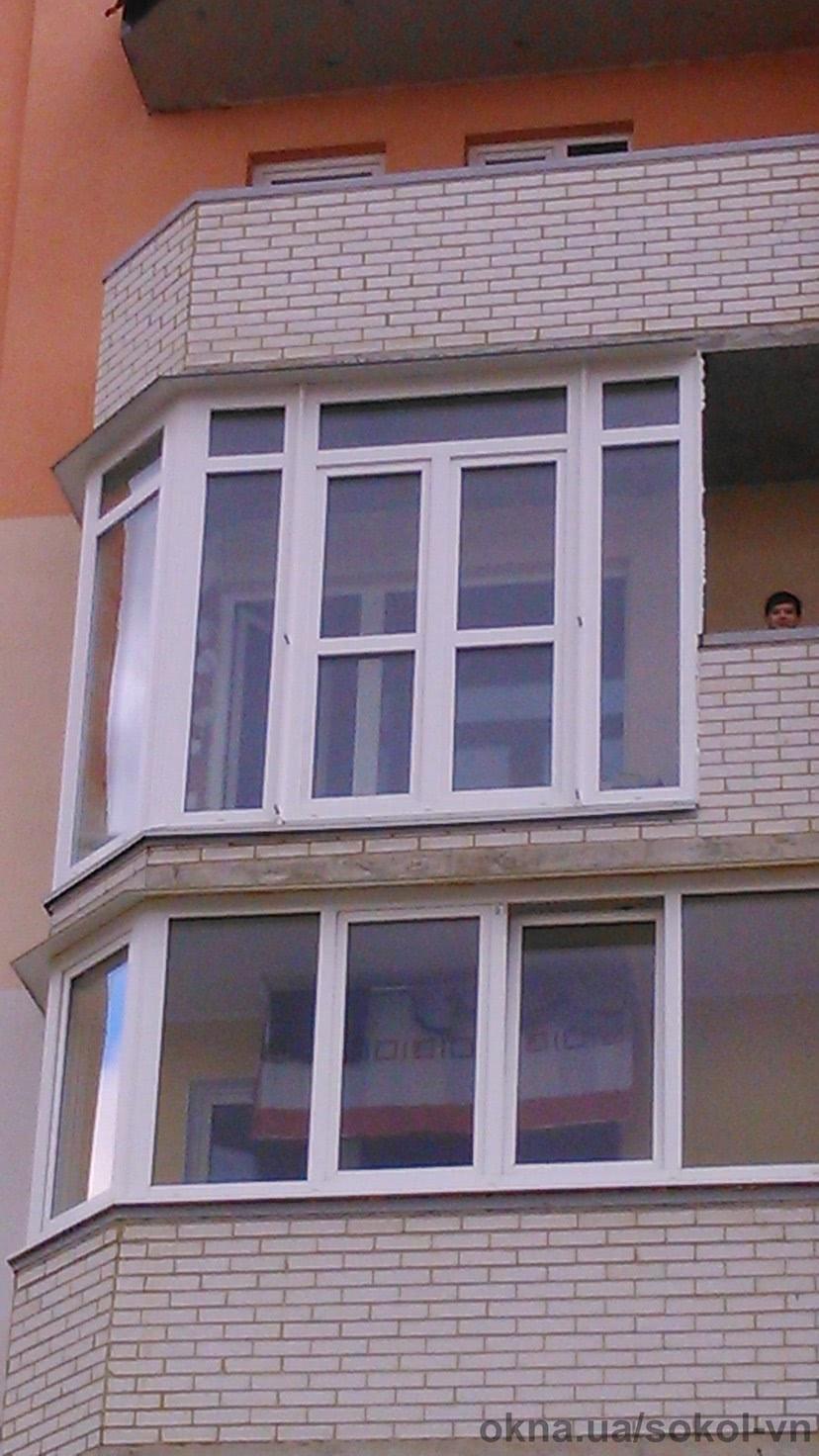 Засклення балкона по вулиці Миколаївська