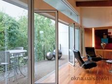 Раздвижные панорамные алюминиевые двери SL 60e