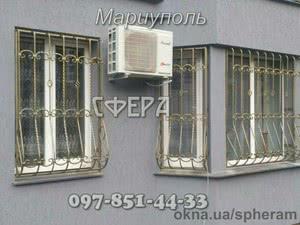 Металлические оконные решетки, изготовление и установка решеток на окна, художественная ковка под заказ. — СФЕРА