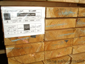 Пиломатериалы сухие калиброванные и строганные - Киев — Санрайс