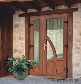 металопластикові двері фото
