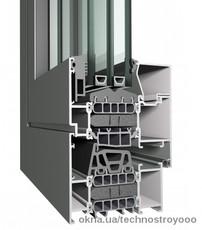 Алюминиевое окно Reynaers CS 86 HI+ размером 1000х1400 мм с двухкамерным энергосберегающим стеклопакетом
