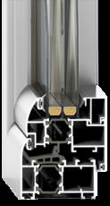 Алюминиевое окно Framex FT69 размером 1000х1400 мм с двухкамерным энергосберегающим стеклопакетом