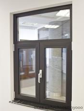 Алюминиевое окно Alumil M11600 размером 1000х1400 мм с двухкамерным стеклопакетом