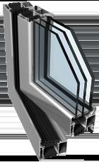 Алюминиевое окно Ponzio PE 78 1000х1500 мм с двухкамерным энергосберегающим стеклопакетом