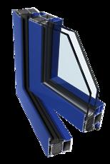 Алюминиевое окно Ponzio PE 68 HI размером 1000х1400 мм с двухкамерным энергопакетом