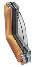 Алюминиево-деревянное окно Ponzio PW 93 Wood 1000х1500 мм с двухкамерным энергосберегающим стеклопакетом