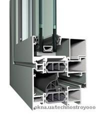 Теплое окно из алюминия Reynaers CS 77 1000x1400 мм с двухкамерным энергосберегающим стеклопакетом