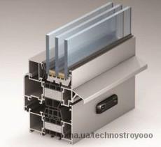 Теплое окно Alutech W72 1000х1400 мм с двухкамерным энергостеклопакетом