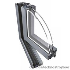 Алюминиевое окно Ponzio PE 68 HI 1000х1500 мм с двухкамерным энергосберегающим стеклопакетом