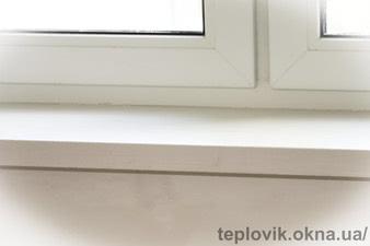 """Підвіконня Werzalit білий колір-400. Продаж з установкою на Софіївська Борщагівка — СК """"Комфорт"""""""