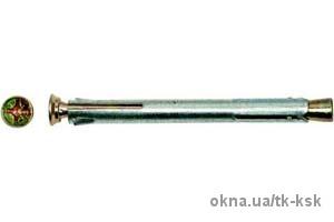 Анкер рамный стальной для окон и дверей 10х72 (100 шт)