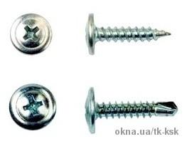Саморез с прессшайбой 4,2х19 острый и со сверлом (1000 шт)