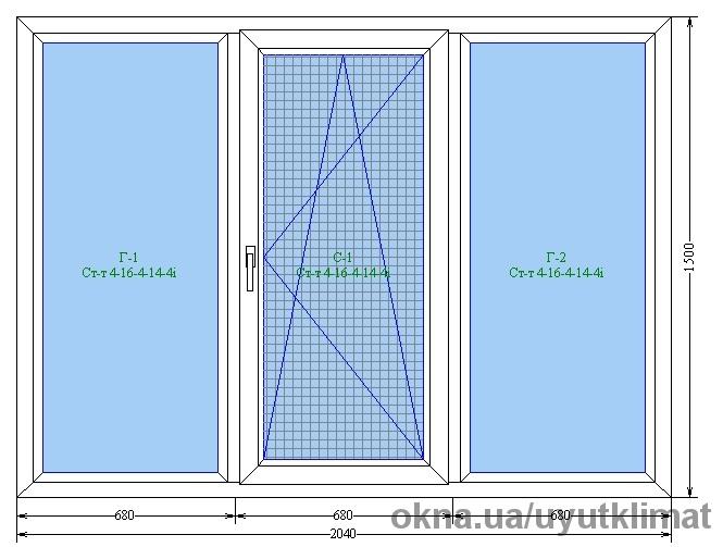 Окно в панельный дом (спальня, зал)