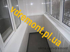 Внутренняя обшивка балкона в Полтаве