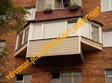 Отделка балконов лоджий в Полтаве