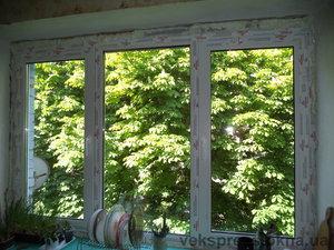 Трехчастное окно с двумя открываниями — Вікна Експрес