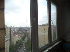 """Остекление """"Г"""" образного балкона — Вікна Експрес"""