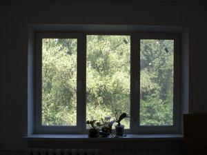Трехчастное окно в зал — Вікна Експрес