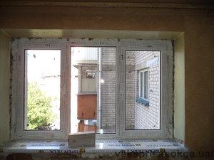 Окно трехчастное — Вікна Експрес