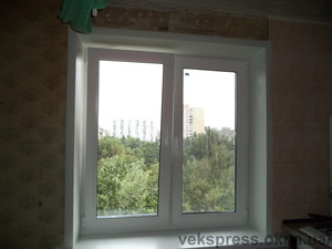 Двухчастное окно на кухню — Вікна Експрес
