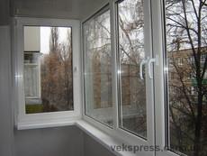 Комплексное остекление балкона с утеплением.