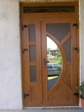 Двері металопластикові, серія нестандарт