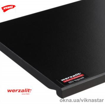 Подоконник Werzalit Compact Black (чорный) 300 мм