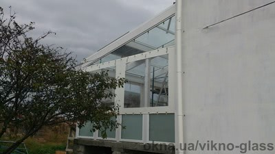 Стеклянная крыша пристройки — Викно Гласс