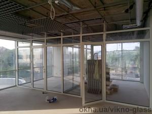Алюминиевые офисные перегородки — Викно Гласс