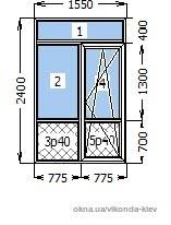 Дверь балконного блока