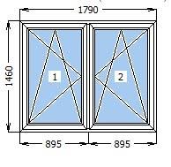 Окно с минимально допустимой теплоизоляцией
