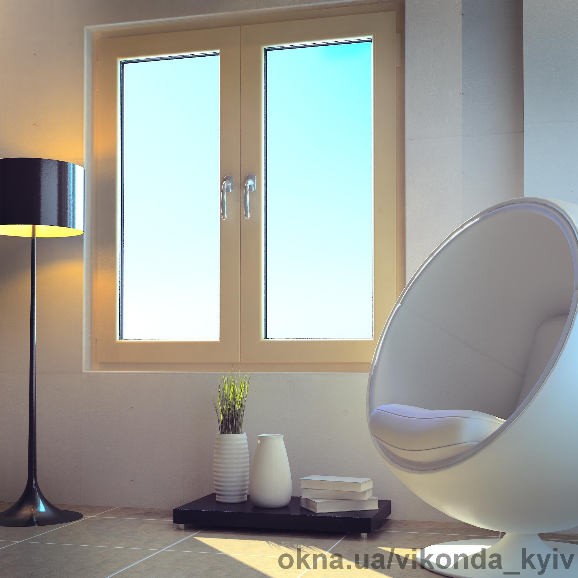 Металлопластиковые окна компании Виконда размером 1300х1400