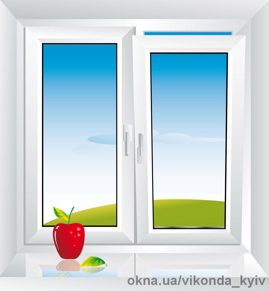 Металлопластиковые окна Виконда размером 1300х1400