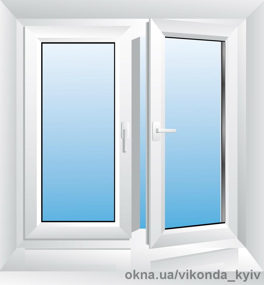 Металлопластиковые окна компании «Виконда» размером 1300х1400 из профильной системы Виконда Коттедж