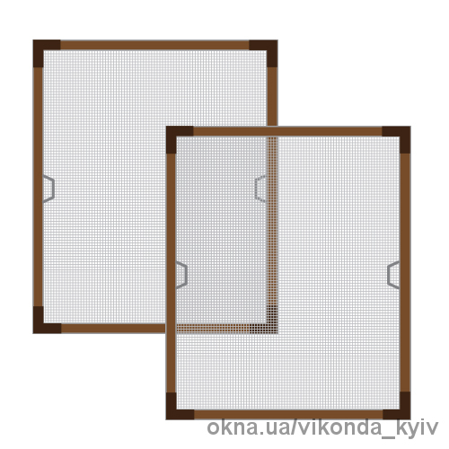 Москитная сетка для ламинированных окон Киев 589х1318