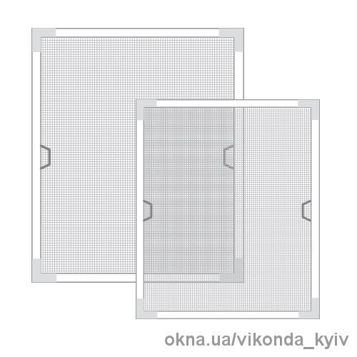 Белая москитная сетка для окна Киев 589х1318