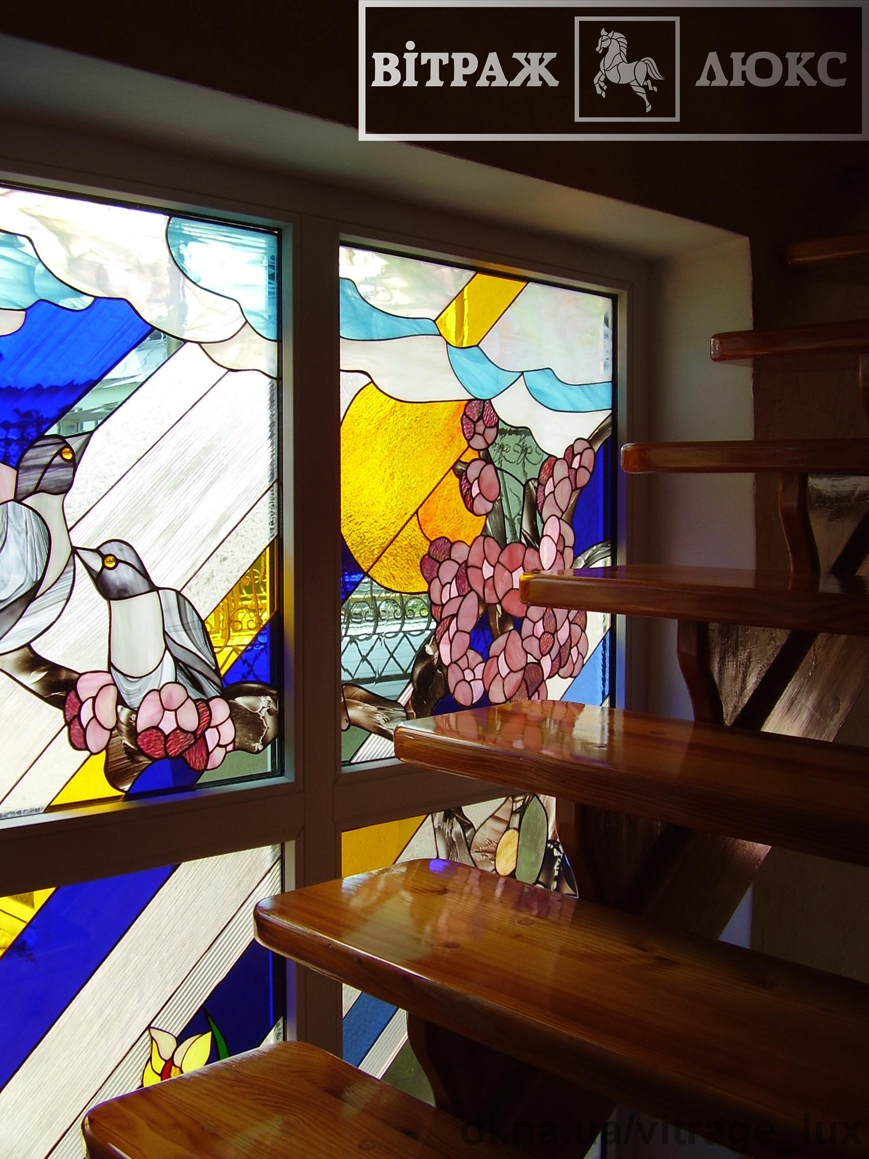 Окна из стекла Тиффани