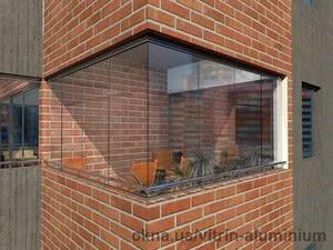 Складное безрамное остекление балкона — Vitrin Aluminium