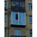 """Остекление балкона """"француз""""."""