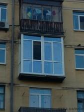 "Остекление балкона ""француз"". — Вікна Декор Енергія (WDE)"