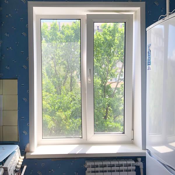 Откосы из сендвич-панели на кухонное окно