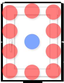 Одностворчатое окно: схема размещения противовзломных элементов (RC2)