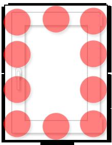 Одностворчатое окно: схема размещения противовзломных элементов (RC2N)